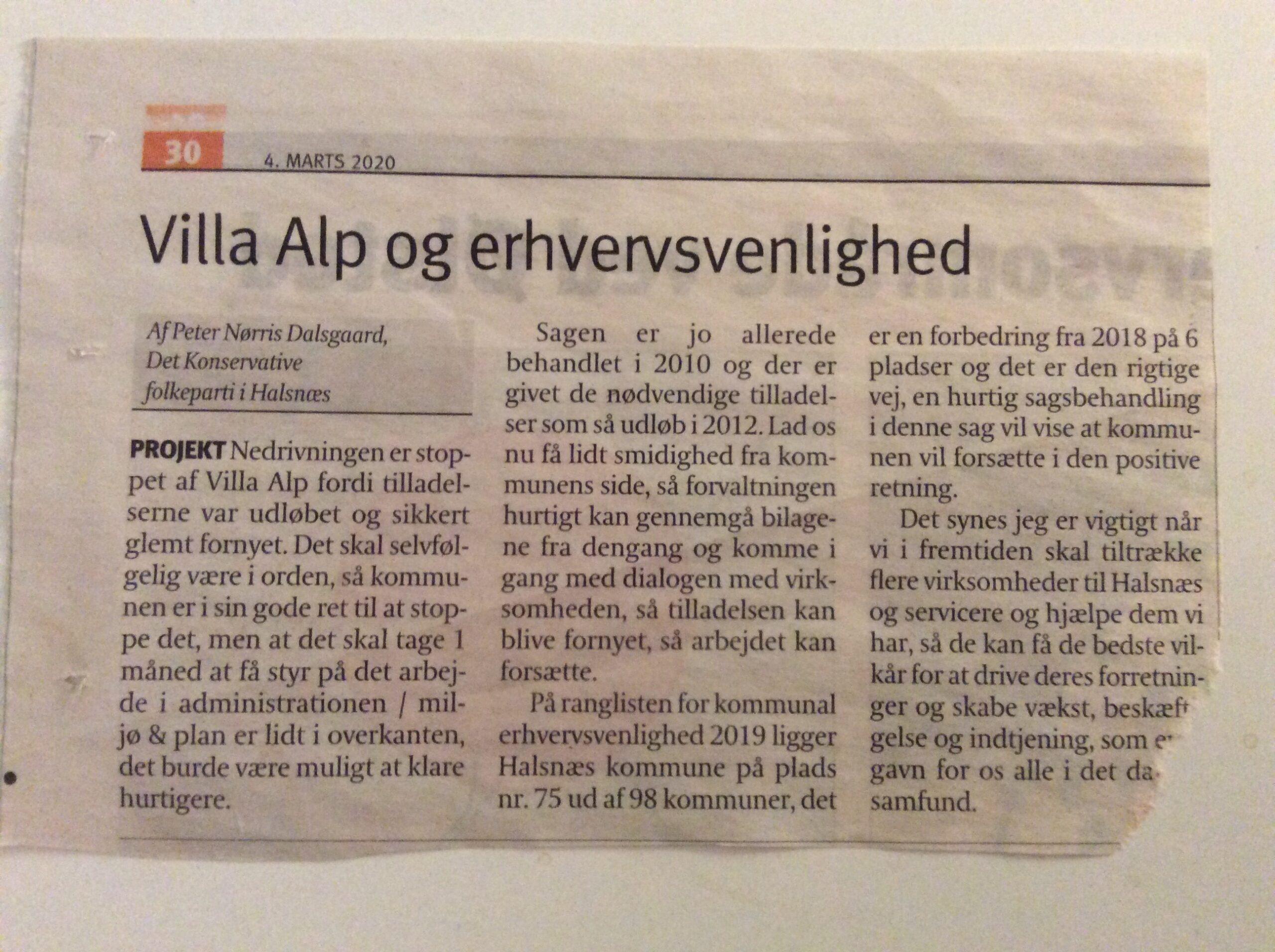 Villa Alp og Erhvervsvenlighed